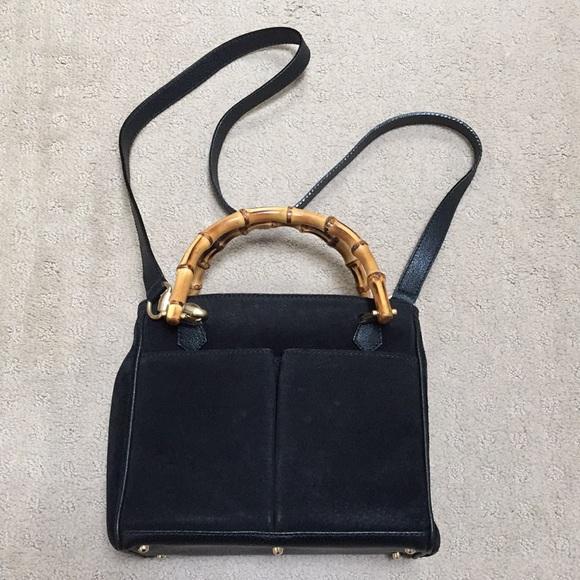 0fdb637787ad Gucci Handbags - Gucci Bamboo Suede Bag